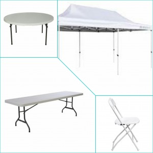 Tents Tables Chairs party rental