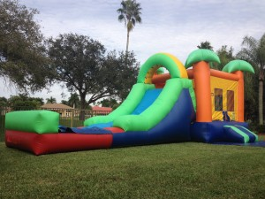 Paradise Combo Bounce House side