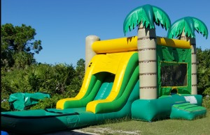palm tree combo Bounce House pool