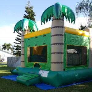 palm tree combo Bounce House front