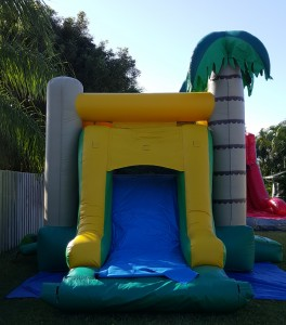 palm tree combo Bounce House slide