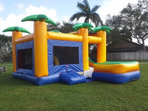 Island Combo Bounce House side