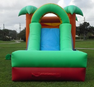 Paradise Combo Bounce House slide