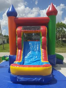 Enchanted Castle Combo Bounce House slide