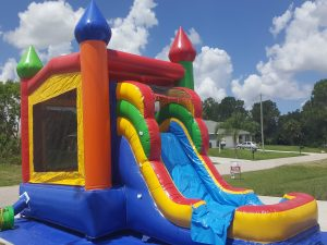 Enchanted Castle Combo Bounce House side