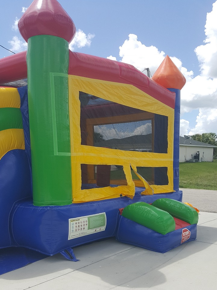 Enchanted Castle Combo Bounce House front