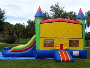 Castle Combo Bounce House front