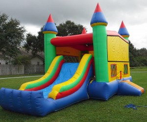 Castle Combo Bounce House side