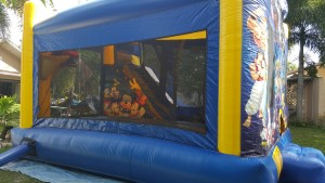 disney bounce house rear