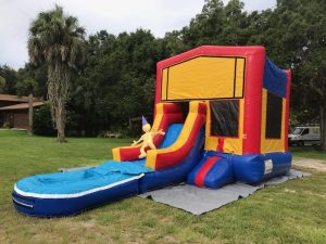 Jr. Combo Bounce House side w pool