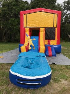 Jr. Combo Bounce House front w pool